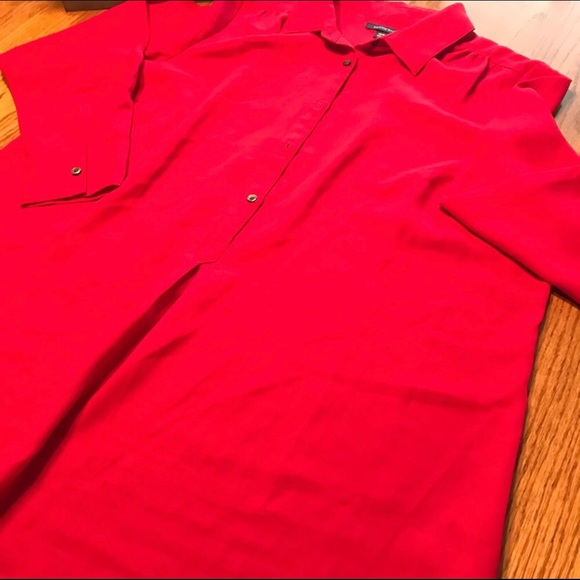 Lands' End Red Blouse